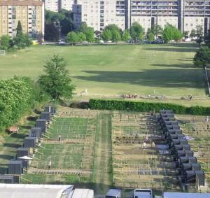 Una foto degli orti di via Chiodi a Milano